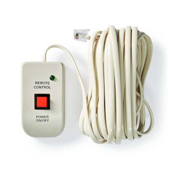 Control Remoto para Inversor de Potencia | Para Inversores de Onda Sinusoidal Modificada de NEDIS | Cable de 5,00 m