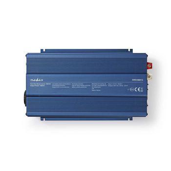 Power Inverter Pure Sine Wave   12 V DC - 230 V AC   1000 W   1x Schuko Output
