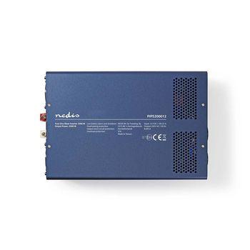 Power Inverter Pure Sine Wave | 12 V DC - 230 V AC | 2000 W | 2x Schuko Output