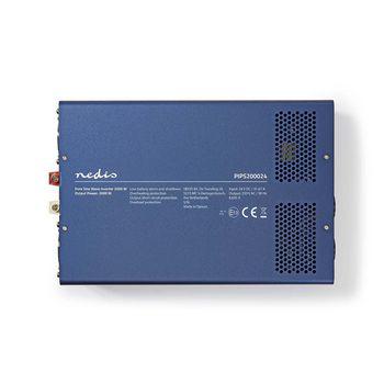 Power Inverter Pure Sine Wave | 24 V DC - 230 V AC | 2000 W | 2x Schuko Output
