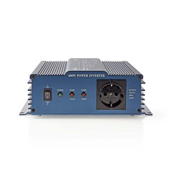 Power Inverter Pure Sine Wave | 12 V DC - 230 V AC | 600 W | 1x Schuko Output