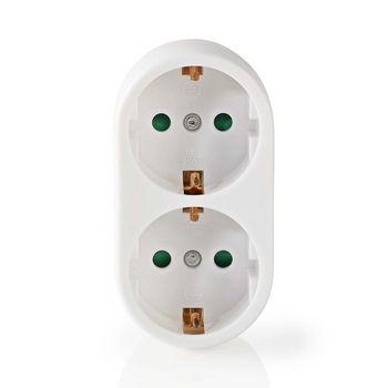 Power Socket Splitter | Protective Contact | 2-Way | Schuko Socket | White