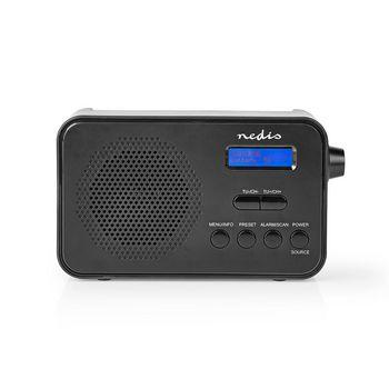 DAB+ Radio | 3,6 W | FM | Klok & Wekkerfunctie | Zwart