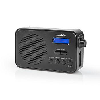 DAB+ radio | 3,6 W | FM | Ur og alarmfunktion | Sort