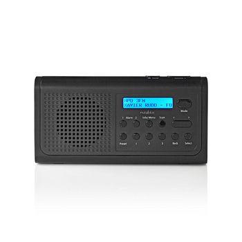 Radio DAB+   3 W   FM   Funzione Orologio e Allarme   Nero