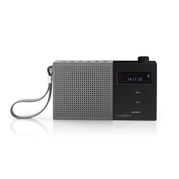 Digital DAB+-radio | 4.5 W | FM | Ur og alarm | Grå/sort