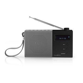 Radio DAB+ Digital | 4,5 W | FM | Reloj y Alarma | Gris/negro