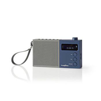 Radio DAB+ digitale   4.5 W   FM   Orologio e sveglia   Grigio/Blu