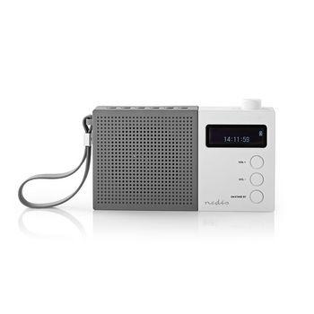 Digital DAB+-radio | 4.5 W | FM | Ur og alarm | Grå/hvid