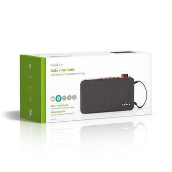 Radio DAB+ digitale | 12 W | FM | Bluetooth®: | Marrone/Nero