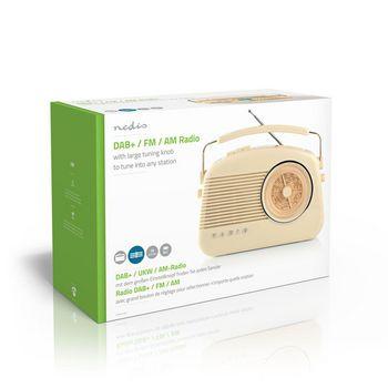 Radio DAB+ | 5,4 W | FM | Asa de Transporte | Beige