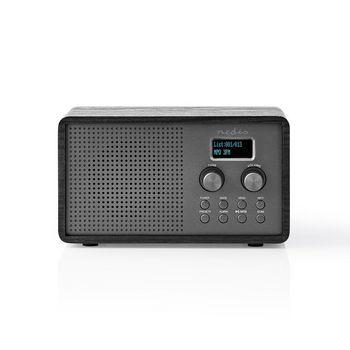 Radio DAB+ | 4,5 W | FM | Función de Reloj y Alarma | Negra