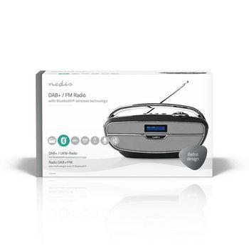 Digital DAB+ Radio | 60 W | FM | Bluetooth® | Black / Silver