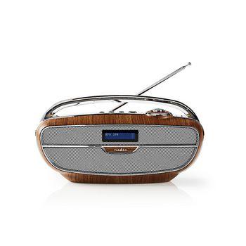 Radio DAB+ digitale | 60 W | FM | Bluetooth®: | Marrone/Argento