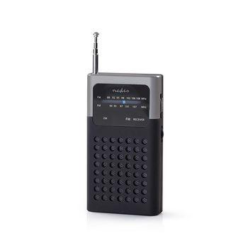 FM Radio | 1.5 W | Pocket Size | Black / Grey