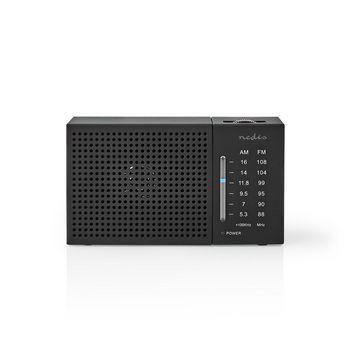FM / AM Radio | 1.5 W | Zakformaat | Zwart