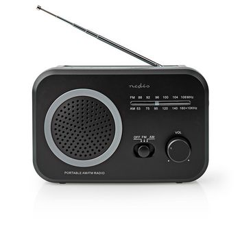 FM / AM Radio | 1.8 W | Carrying Handle | Grey / Black