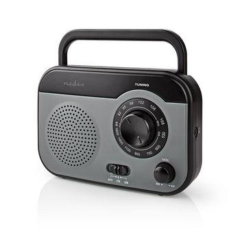 Radio FM/AM | 1,8 W | Poignée de Transport | Grise/Noire