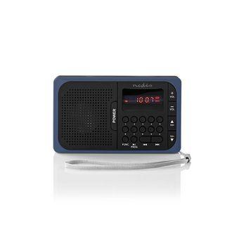 FM Radio | 3.6 W | USB Port & microSD Card Slot | Black / Blue