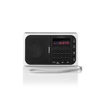 FM-radio | 3,6 W | USB-poort & microSD-kaartsleuf | Zwart / wit