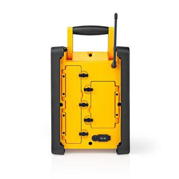 FM-Bouwradio | 15 W | Bluetooth® | IPX5 | Handvat | Geel / Zwart
