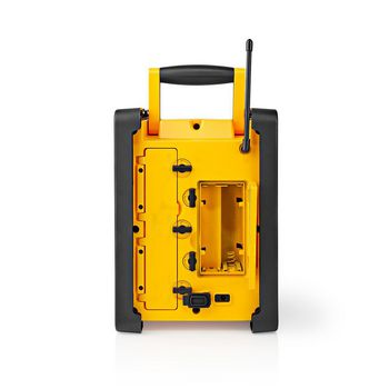 Jobsite FM Radio | 15 W | Bluetooth® | IPX5 | Carrying Handle | Yellow / Black