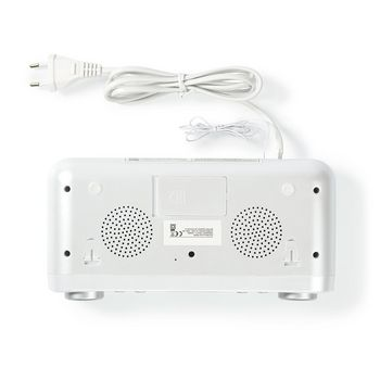 FM Rádio | Rádio pod Skříňku | 30 Předvolených Stanic | Displej s Automatickým Stmívačem | Bílé