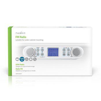 Radio FM | Radio Sottopensile | 30 Stazioni Preimpostate | Display con Regolazione Automatica di Luminosità | Bianco