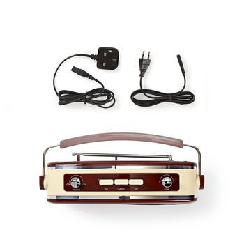 FM Radio | 4.5 W | Carrying Handle | Brown