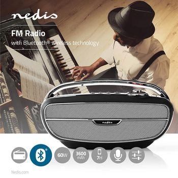 FM Radio | 60 W | Bluetooth® | Black / Silver