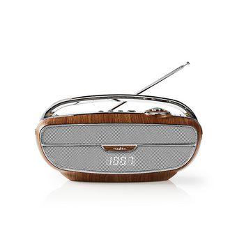 FM Radio | 60 W | Bluetooth® | Brown / Silver