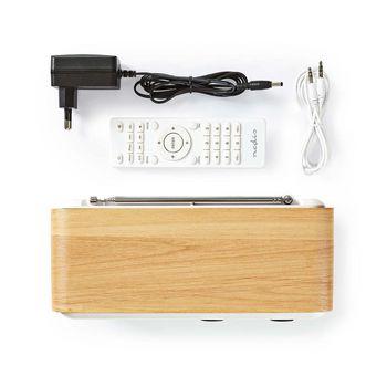 "Internetradio | Tafelmodel | Bluetooth® / Wi-Fi | DAB+ / FM / Internet | 2.4 "" | Kleurenscherm | 7 W | Afstandbestuurbaar | App-gestuurd | Wekker | Wit/Hout"