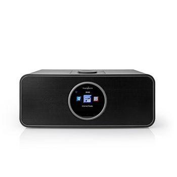 "Internetradio | Tisch Ausführumg | Bluetooth® / Wi-Fi | FM / Internet | 2.4 "" | Farbbildschirm | 42 W | ferngesteuert | App gesteuert | Kopfhörerausgang | Wecker | Sleep Timer | Schwarz"