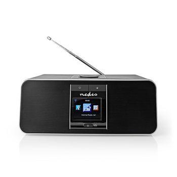 "Internetradio | Tisch Ausführumg | Bluetooth® / Wi-Fi | DAB+ / FM / Internet | 2.4 "" | Farbbildschirm | 42 W | ferngesteuert | App gesteuert | Kopfhörerausgang | Wecker | Sleep Timer | Schwarz"