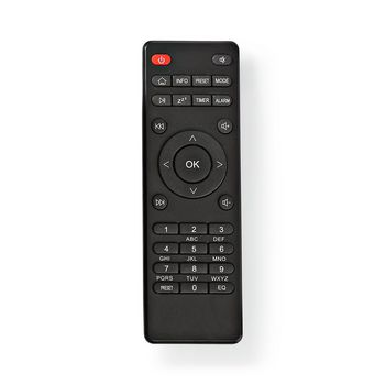 Replacement Remote Control | Suitable for: RDIN3000BK / RDIN4000BK / RDIN5000BK / RDIN5005BK | Fixed | Number of devices: 1 | Clear Lay-out | Infrared | Black