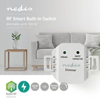 RF Smart Inbouwschakelaar   Dimbaar   40 W - 300 W