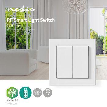 RF Smart Lichtschakelaar | Tweevoudig