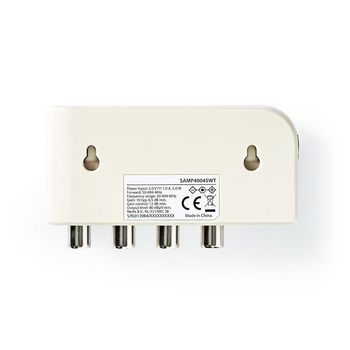 CATV-versterker | Max. 10 dB Versterking | 50 - 694 MHz | 4 Uitgangen | IEC