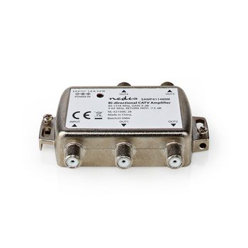 CATV Amplifier | Gain: 9 dB | 85-1218 MHz | Number of outputs: 4 | Return path | Silver