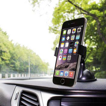 Universal Smartphone Car Stand | Window/Dashboard | Black