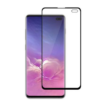 Glass Screen Protector for Samsung Galaxy S10 Plus | Full Cover | 3D Curved | Transparent / Black