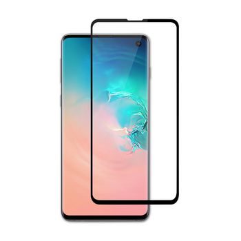 Glass Screen Protector for Samsung Galaxy S10 E   Full Cover   3D Curved   Transparent / Black