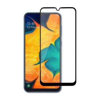 Glass Screen Protector for Samsung Galaxy A30 / A50 | Full Cover | 3D Curved | Transparent / Black