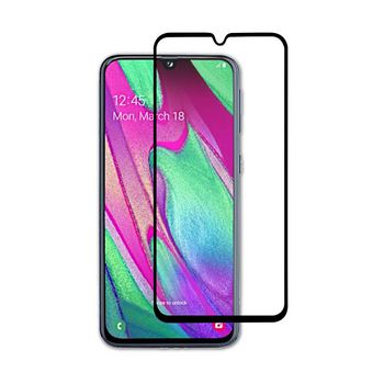 Glass Screen Protector for Samsung Galaxy A40 | Full Cover | 3D Curved | Transparent / Black