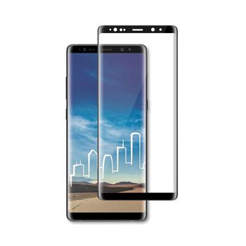 Glass Screen Protector for Samsung Galaxy Note 9   Full Cover   3D Curved   Transparent / Black