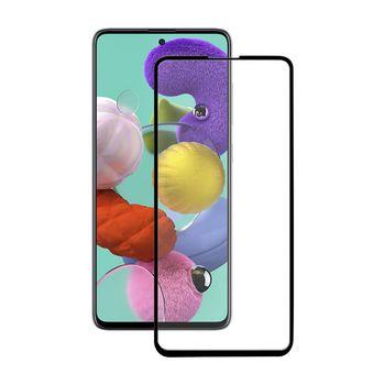 Lasinen Näytönsuoja Samsung Galaxy A51:lle | Full Cover | Kaareva 3D | Läpinäkyvä/Musta