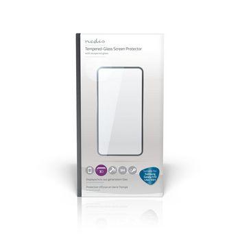 Protezione dello Schermo in Vetro per Samsung Galaxy S10 Lite/A91 | Copertura Integrale | 3D Curvo | Trasparente/Nero