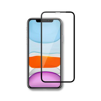 Glass Screen Protector for Apple iPhone XR / 11   Full Cover   3D Curved   Transparent / Black