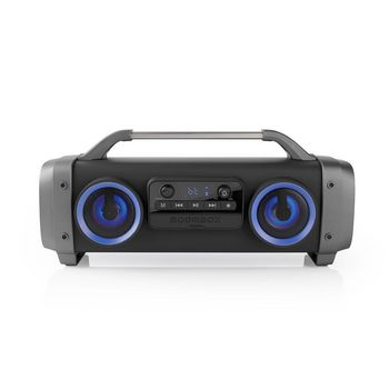 Party Boombox | 3 Hours Playtime | Bluetooth® Wireless Technology | FM Radio | Party Lights | Black