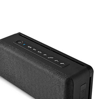 Bluetooth®-högtalare | 30 W | Vattenskyddad | Equalizer | Svart/svart